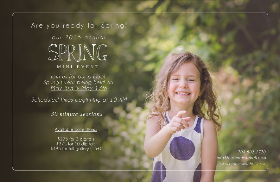 Cianne Mitchell Photography Spring Mini Session