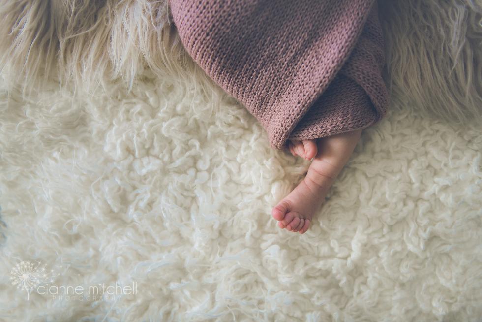 Baby girl feet photo