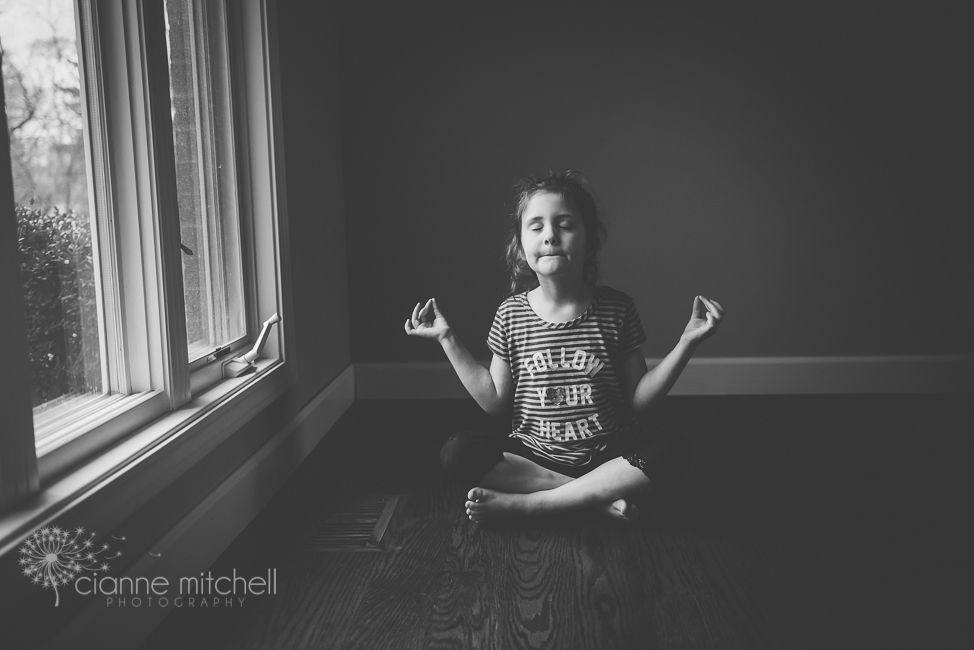 5 Year old black and white photography