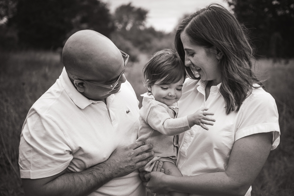 Black and white photography for families